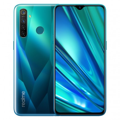 "Realme 5 PRO EU 128GB Green, DualSIM, 6.3"" 1080x2340 IPS, Snapdragon 712 AIE, Octa-Core 2.3GHz, 4GB RAM, microSD (dedicated slot), 48MP+8MP+2MP+2MP/16MP, LED flash, 4035mAh, WiFi-AC/BT5.0, LTE, Android 9 (Color OS)"