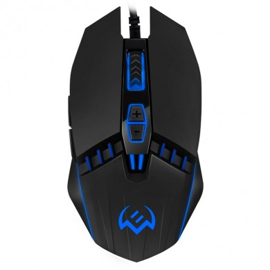 SVEN RX-G810 Gaming, Optical Mouse, 800-4000 dpi, 6+1 buttons (scroll wheel),  DPI switching modes, Two navigation buttons (Forward and Back),Soft Touch coating, USB, Black
