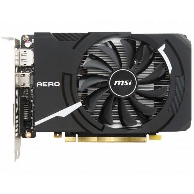 MSI GeForce GTX 1050 Ti AERO ITX 4G OCV1 /  4GB GDDR5 128Bit 1455/7008Mhz, DVI-D, HDMI, DisplayPort, Single TORX fan, Military Class 4 (MIL-STD-810G), Gaming App, Retail
