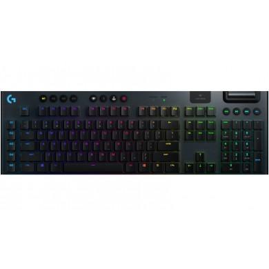 Logitech Gaming Mechanical Keyboard G915  LIGHTSYNC RGB,  Low Profile, 5 Dedicated G-Keys, 22 Lighting Profiles, LIGHTSPEED Wireless, Bluetooth,  USB, Black
