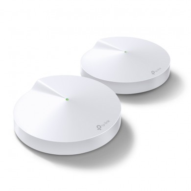 TP-LINK Deco M5 (2-pack)  AC1300 Mesh Wi-Fi System, 2 LAN/WAN Gigabit Port, 867Mbps on 5GHz + 400Mbps on 2.4GHz, 802.11ac/b/g/n, Wi-Fi Dead-Zone Killer, Seamless Roaming with One Wi-Fi Name, Antivirus, Parental Controls