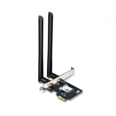 TP-LINK Archer T5E  AC1200 Wi-Fi Dual Band Bluetooth PCI Express Adapter, 867Mbps on 5GHz + 300Mpbs on 2.4GHz, 802.11a/b/g/n/ac, 2 Dual Band detachable аntennas, Bluetooth 4.2