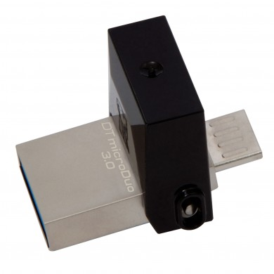 128GB USB3.1  Kingston DataTraveler microDuo 3.0 G2, Ultra-small, USB OTG microUSB (On-The-Go), (Read 100 MByte/s, Write 15 MByte/s)