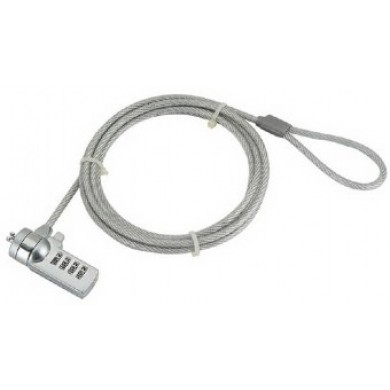 Gembird LK-CL-01 Cable lock for notebooks (4-digit combination), 4 mm steel cable