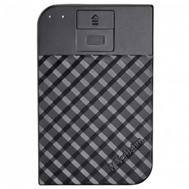 "2.5"" External HDD 1.0TB (USB3.1/USB-C)  Verbatim ""Fingerprint Secure"", Black, 256-bit AES hardware security encryption with fingerprint, Enclosure material: Plastic and Aluminium"