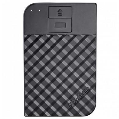 "2.5"" External HDD 2.0TB (USB3.1/USB-C)  Verbatim ""Fingerprint Secure"", Black, 256-bit AES hardware security encryption with fingerprint, Enclosure material: Plastic and Aluminium"