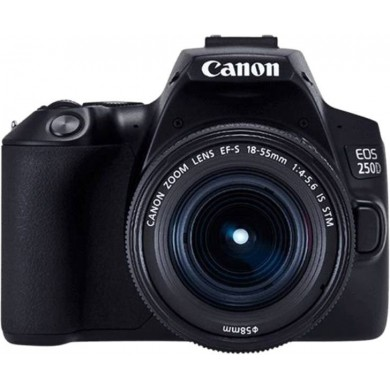 DSLR Camera CANON EOS 250D 18-55 IS STM Black (3454C007)