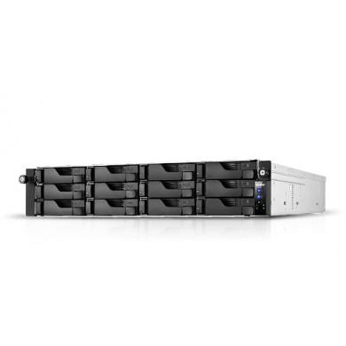 "12-bay NAS Server  ASUSTOR ""AS7112RDX"", Rack mount, 2U, Intel 9th Xeon E-2224 (Quad-Core) 3.4-4.6GHz, 8GB DDR4 ECC (Max.128GB), 12x2.5""/3.5""SATA (Hot Swap), 2xM.2 Slot, 4xUSB3.2, 2xType-C, 4xGbE LAN, 3xPCIe, AES-NI, Redundant PSU(2x550W), IP Cam:<100"