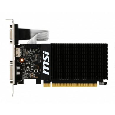 MSI GeForce GT 710 (GT 710 2GD3H LP) /  2GB GDDR3 64Bit 954/1600Mhz, D-Sub, DVI-D, HDMI, Passive Heatsink, Low Profile Design, Retail