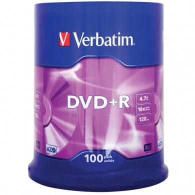 Verbatim DataLifePlus DVD+R AZO 4.7GB 16X MATT SILVER SURFAC - Spindle 100pcs.
