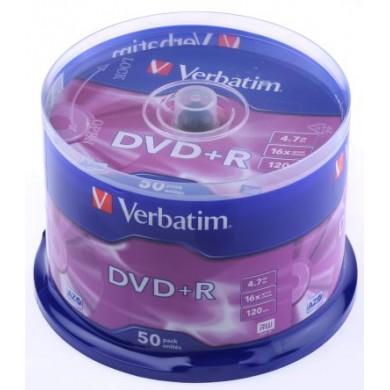 Verbatim DataLifePlus DVD+R AZO 4.7GB 16X MATT SILVER SURFAC - Spindle 50pcs.