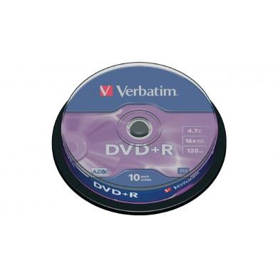 Verbatim DataLifePlus DVD+R AZO 4.7GB 16X MATT SILVER SURFAC - Spindle 10pcs.