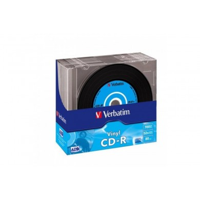 Verbatim DataLifePlus CD-R AZO 700MB 52X VINYL SURFACE - Slim Case 10pcs.