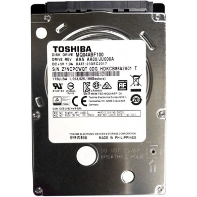 """2.5"""" HDD 1.0TB Toshiba MQ04ABF100,  5400rpm, 128MB, 7mm, SATAIII, bulk (without package)"""