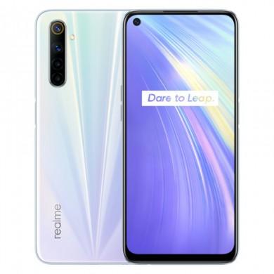 "Realme 6 EU 128GB White, DualSIM, 6.5"" 1080x2400 IPS, Mediatek Helio G90T, Octa-Core 2.05GHz, 8GB RAM, microSD (dedicated slot), 64MP+8MP+2MP+2MP/16MP, LED flash, 4300mAh, WiFi-AC/BT5.0, NFC, LTE, Android 10 (Realme UI)"