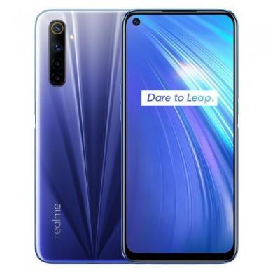 "Realme 6 EU 128GB Blue, DualSIM, 6.5"" 1080x2400 IPS, Mediatek Helio G90T, Octa-Core 2.05GHz, 8GB RAM, microSD (dedicated slot), 64MP+8MP+2MP+2MP/16MP, LED flash, 4300mAh, WiFi-AC/BT5.0, NFC, LTE, Android 10 (Realme UI)"