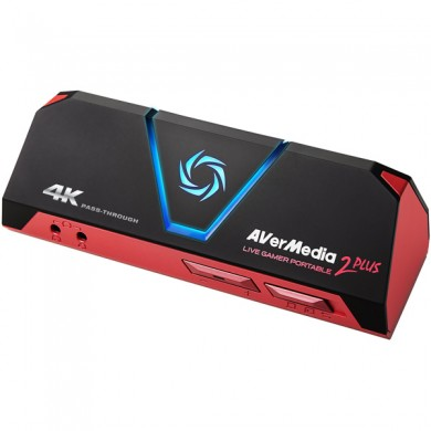 AverMedia Live Gamer Portable 2 PLUS - GC513: Video/Audio Ouput: HDMI 2.0/3.5mm Jack / Input: HDMI 2.0/3.5mm Jack, Max Pass-Through Res:4Kp60 / 1080p60, Max Record Res:1080p60, Record Format: MPEG 4 (H.264+AAC) / MJPEG, Interface: microUSB 2.0