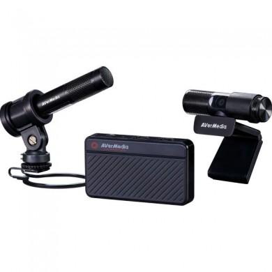 AverMedia Live Streamer 311S KIT - BO311S: Live Gamer MINI (GC311) + Live Streamer CAM 313 (PW313) + Live Streamer Microphone (AM133P)