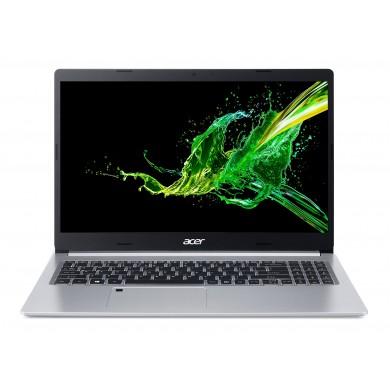 "ACER Aspire A515-55G Pure Silver (NX.HZHEU.00D) 15.6"" IPS FHD (Intel Core i7-1065G7 4xCore 1.3-3.9GHz, 16Gb (1x16) DDR4 RAM, 512GB PCIe NVMe SSD+HDD Kit, GeForce MX350 2GB GDDR5, WiFi6-AX/BT, FPR, Backlit, 3cell, HD webcam, RUS, Linux, 1.8kg)"