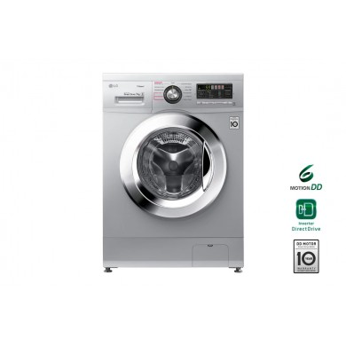 Washer LG F12M7HDS4, White, Max load - 7kg, Max speed - 1200rpm, 60x44x85cm, Depth - 44cm, Direct Drive, SpaSteam, Download Type - front, Class - A/A/B, Display, 13 programm