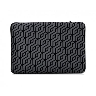 """14.0"""" NB Bag - HP Chroma Geo, Durable Neoprene Reversible Sleeve, zipper-less, (Black/Silver)."""