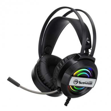 "MARVO ""HG8902"", Gaming Headset, Microphone, 50mm driver unit, Volume control, USB, cable 2.1m"