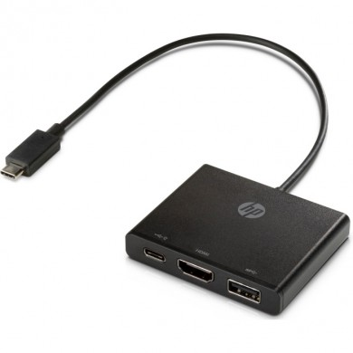 HP USB-C to Multi-Port Hub - 1 х HDMI, 1 х USB-C™, 1 х USB port.