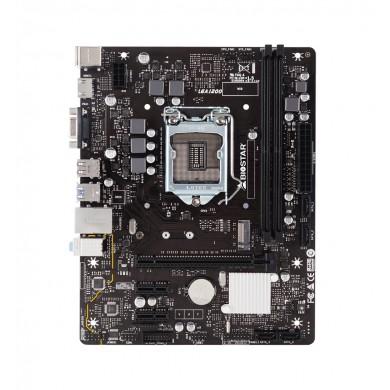 Biostar H410MH, Socket 1200, Intel® H410 (10th Gen CPU), Dual 2xDDR4-2933, CPU Intel graphics, VGA, HDMI, 1xPCIe X16, 4xSATA3, 1xM.2, 2xPCIe X1, ALC887 HDA, GbE LAN, 4xUSB3.2, mATX