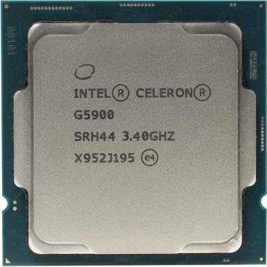 Intel® Celeron® G5900, S1200, 3.4GHz (2C/2T), 2MB Cache, Intel® UHD Graphics 610, 14nm 58W, Box