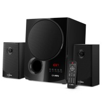 SVEN MS-2080 Black,  2.1 / 40W + 2x15W RMS, Bluetooth, FM-tuner, USB & SD card Input, Digital LED display, built-in clock, set the switch-off time, remote control, all wooden