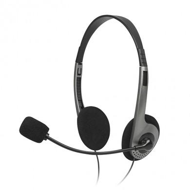 SVEN AP-015MV, Headphones with microphone, Volume control, 2.0m, Black/Silver