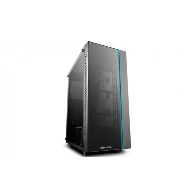 Carcasa DEEPCOOL MATREXX 55 V3 / w/oPSU / Side panel / RGB LED Strip / ATX / Black