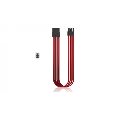 "DEEPCOOL ""EC300-PCI-E-RD"", RED, Extension cable 6/8-pin PCI-E, 18AWG fiber wire and a high-quality terminal, wire length 300mm"