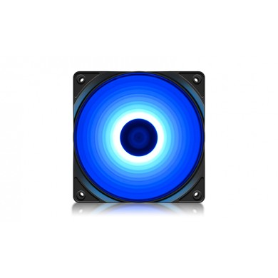 "120mm Case Fan  - DEEPCOOL ""RF120B"" BLUE LED Fans, 120x120x25mm, 500-1500rpm, 21.9dBa, 48.9 CFM, 3-pin & 4-pin Peripheral"
