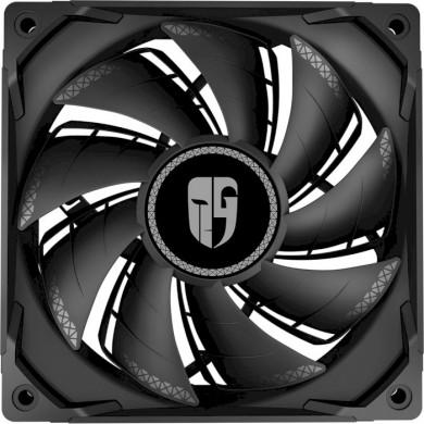 "120mm Case Fan - DEEPCOOL Gamer Storm TF series ""TF120S BLACK"", 120x120x25mm, 500-1800rpm, <17.6~31.3dBa, 64.4 CFM, Hydro Bearing, Radiator fan, 4Pin, PWM, MTBF >40000 hours, Black"