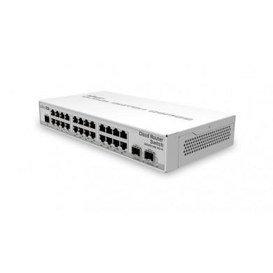 Mikrotik Cloud Router Switch 326-24G-2S+IN with RouterOS L5 license, desktop case (EU)