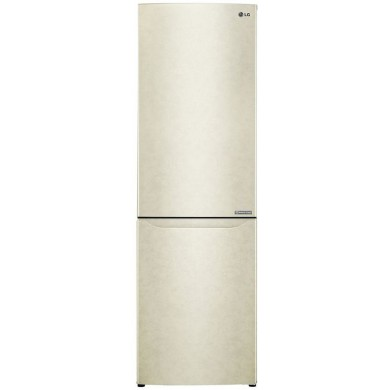 Refrigerator LG GA-B419SEJL, Beige, Total volume - 302L, 190.7x59.5x68.2cm, Multi Air Flow, Refrigerator/Freezer volume - 223L/79L, Refrigerator / Freezer - NoFrost, Display, Class - A+ (277kWh), Down Freezer, Temperature regulator - Sensor, 62kg