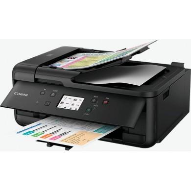 MFD Canon Pixma TR7540 Black, Colour Printer/Duplex/Scanner/Copier/Fax/Wi-Fi, ADF(20-sheet), A4, Print 4800x1200dpi_2pl,Scan 1200x2400dpi,ESAT 15/10 ipm,64-300г/м2,Cassette:100 sheets, USB 2.0, PGI-480PGBK/CLI-481BK/C/M/Y