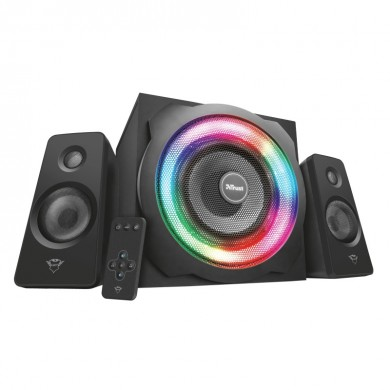 Trust Gaming GXT 629 Tytan RGB Illuminated 2.1 Speaker Set, 120w  - Black