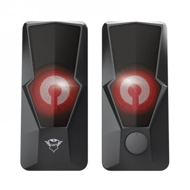 Trust Gaming GXT 610 Argus Illuminated 2.0 Speaker Set, 20W, LED illuminatio, Black