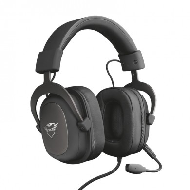 Trust Gaming GXT 414 Zamak Premium Multiplatform Headset,  53mm, Flexible detachable microphone and adjustable headband , Black