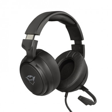 Trust Gaming GXT 433 Pylo Multiplatform Headset, High quality microphone,50 mm driver units for a deep and rich bass and clean highs,Adjustable headband with attractive brushed-metal details and a fold away microphone, Black