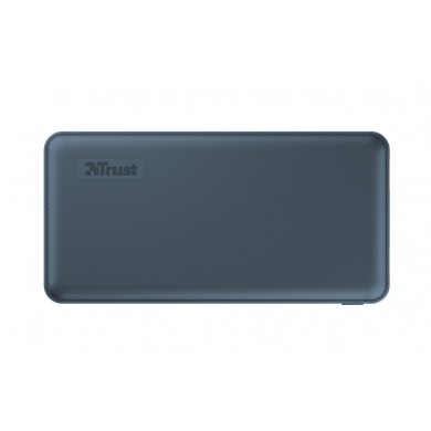 15000mAh Power bank - Trust Primo, Blue, Fast-charge with maximum speed via USB-C (15W) or USB-A (12W). Charging speed varies between devices