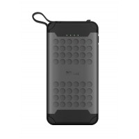 10000mAh Power bank - Trust Hyke Outdoor, Water and sand resistant (IP67), ast-charge with up to 18W power via Power Delivery and QuickCharge 3.0