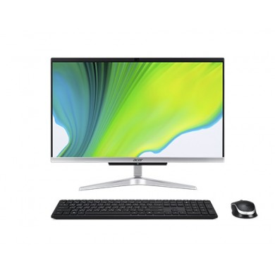 "All-in-One PC - 23.8"" ACER Aspire C24-963 FHD IPS, Intel® Core® i3-1005G1, 8GB DDR4 RAM, 256Gb SSD, Intel® UHD Graphics, NO ODD, CR, HD cam, WiFi+BT 5.0, LAN, 65W PSU, USB KB/MS, Win10PRO, Iron Gray."