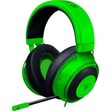 RAZER Kraken Green, Gaming Headset, Retractable Unidirectional Microphone with quick mute toggle, 7.1 Surround Sound, 50 mm neodymium driver units, 3.5 mm audio jack
