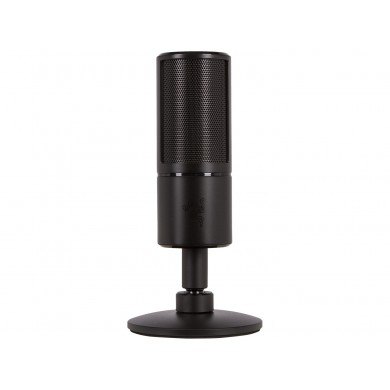Razer Microphone Seiren X, The compact mic to elevate your streaming to professional heights, Black