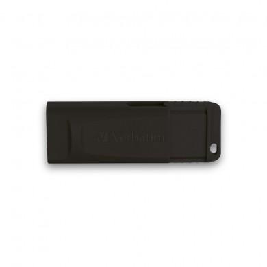16GB USB2.0  Verbatim Slider Black, Retractable USB connector, (Up to: Read 18 MByte/s, Write 10 MByte/s)
