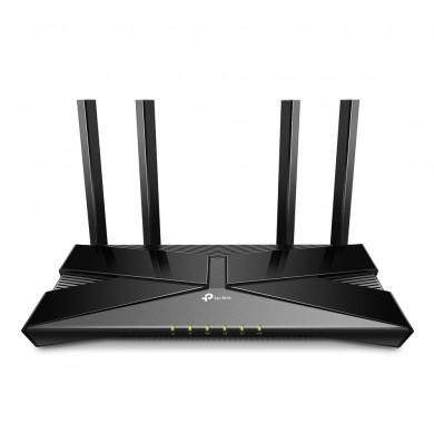 TP-LINK  Archer AX20  Wi-Fi 6 Wireless Gigabit Router, 1201Mbps at 5Ghz + 574Mbps at 2.4Ghz, 802.11ax/ac/a/b/g/n, 1 Gigabit WAN+4 Gigabit LAN, Beamforming, OFDMA, MU-MIMO, 4 fixed antennas