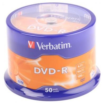 Verbatim DataLifePlus DVD-R AZO 4.7GB 16X MATT SILVER SURFAC - Spindle 50pcs.